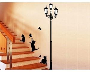 Стикер за стена - котки