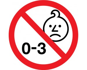Стикер Забранителен знак за деца