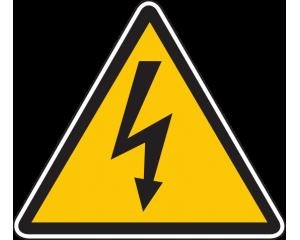 Предупредителен знак стикер Високо напрежение