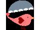 Стикер за детска стая Птица с чадър