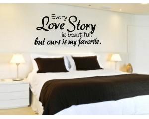 Стикер за стена - LOVE STORY
