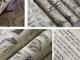 Тапет във винтидж стил с весникарски принт