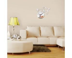 Часовник-стикер пеперуди - огледален