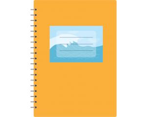 Eтикети за учебни тетрадки с морски фон10 бр