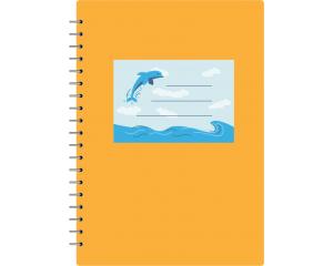 Сини етикети за учебни тетрадки 10 бр