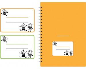 Етикети за учебни тетрадки 10 бр