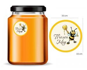 Етикети за буркани с пчелен мед - 88 бр