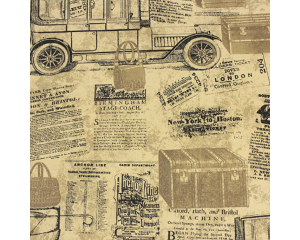 Тапет във винтидж стил с вестникарски принт