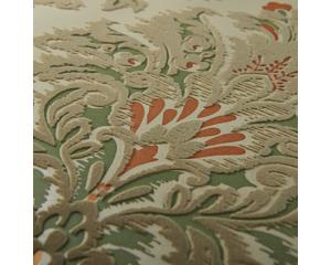 Винтидж тапет бронз и бежово-червени орнаменти