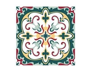 Самозалепващ стикер за плочки зелени орнаменти