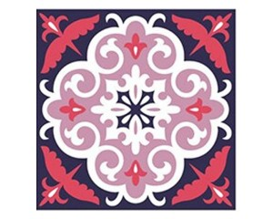 Самозалепващ стикер за плочки розови орнаменти
