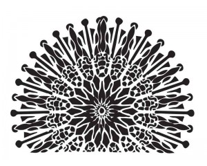 Шаблон за боядисване 29x21cm елемент слънце