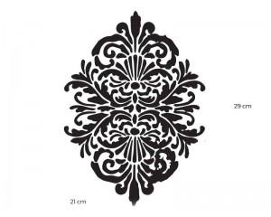 Шаблон за боядисване 29x21cm готик