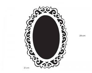 Шаблон за боядисване 29x21cm огледало