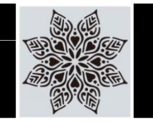 Шаблон за боядисване с флорален дизайн #10 - 15x15 cm