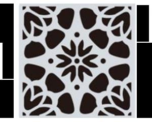 Шаблон за боядисване на плочки мандала дизайн #7 - 15x15 cm