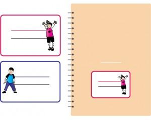 Етикети за учебни тетрадки цветни самозалепващи 10 бр